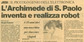 Archimede of San Paolo invents and manufactures robots